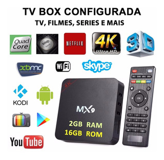 Tv Box - Kodi, Netflix, Youtube - Android 7.1.2 Configurado