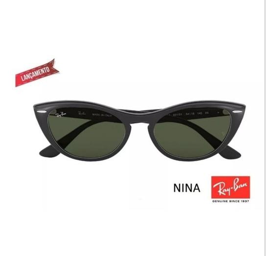 Óculos De Sol Gatinho Ray Ban Rb 4314 Nina Feminino Lançamento