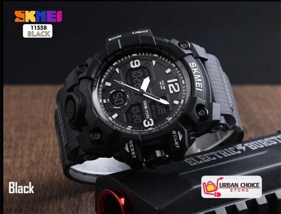 Reloj Deportivo Skmei 1155b Black Analogico Y Digital