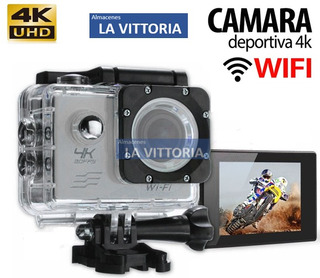 Camara 4k Ultrahd De Accion Wifi 16mp Tipo Go Pro Hero 5