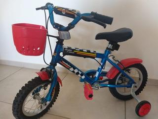 Bicicleta Rodado 12 Para Niño/a 3 A 5 Años Canasto Y Ruedas