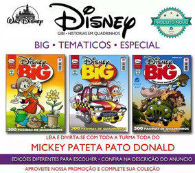 Disney Big Especial Tematicos Mickey Donald Pateta Gibi Novo