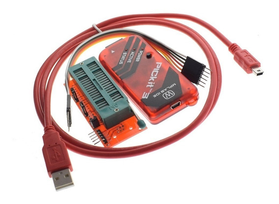 Pickit 3 Programador Pic Avr Microchip + Adaptador Zif