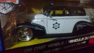 Chevy Master Deluxe Police 1939 (raro) Jada 1:24 Big Time
