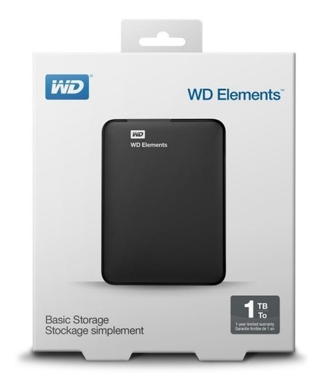 Hd Externo 1tb Wd Portatil Western Digital Elements Lacrado