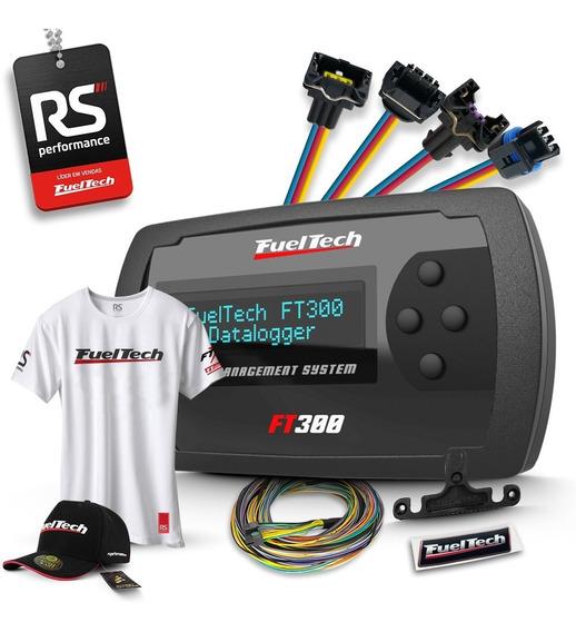 Fueltech Ft300 3m + Brindes + Kit 13 Chicotes Vw 8 Bicos