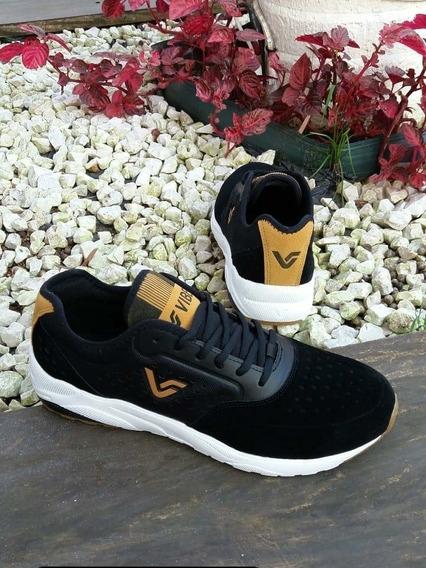 Tênis Vibe Shoes Crew Preto Sneaker Bege Ungravity
