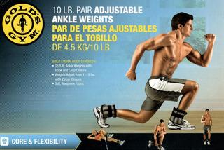 Par De Pesas Polainas Ajustables10 Libras Golds Gym