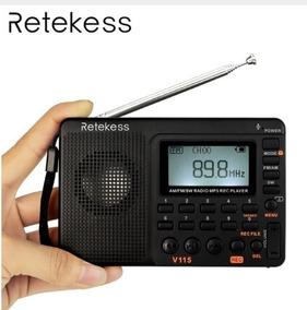 Rádio Retekess V115 Am/fm/sw Bateria Recarregável