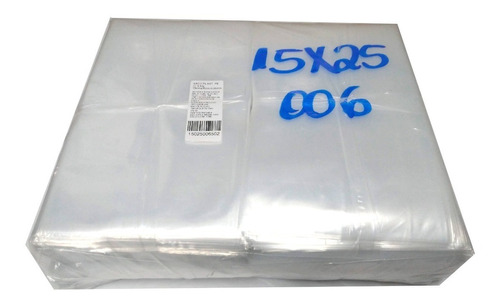 Saco Plástico Transparente 15x25 Esp.0,06  Pe 440 Un. C/ 1kg