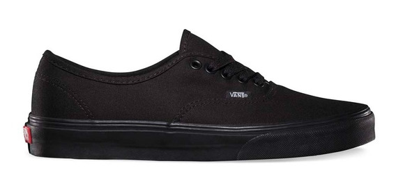 Zapatillas Authentic Vans Negra Baja Original Totally Black