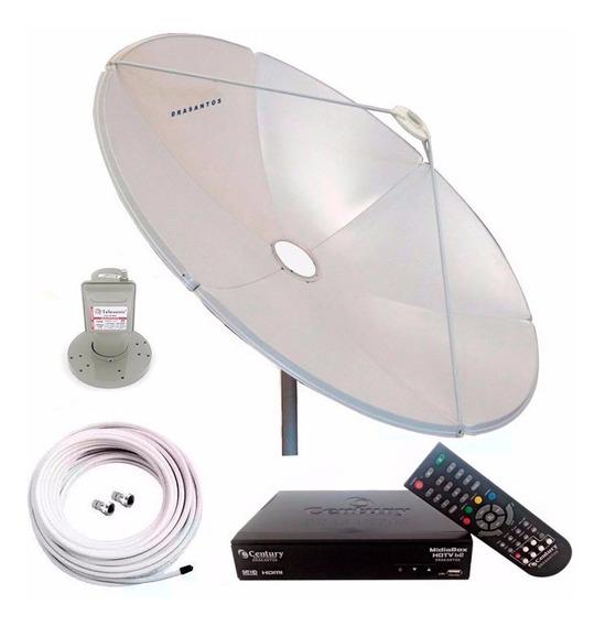 Antena Parabolica Chapa 150 + Midiabox + Cabo + Lnbf