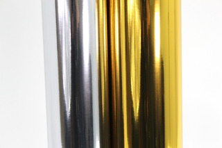 1 Mt Vinil Autoadherible Metalico, Oro O Plata