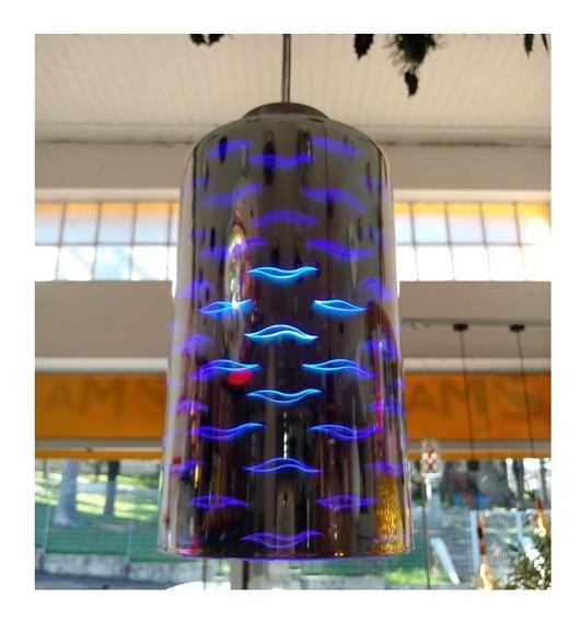 Luminaria Efeito 3d, Pendente, Banheiro Quarto Azul Gourmet.