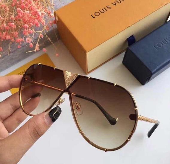 Óculos Louis Vuitton Dourado Original