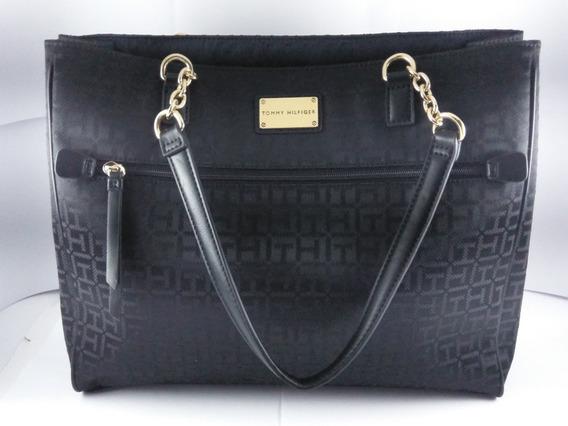Bolsa Tommy Hilfiger 100% Original Color Negro Para Dama