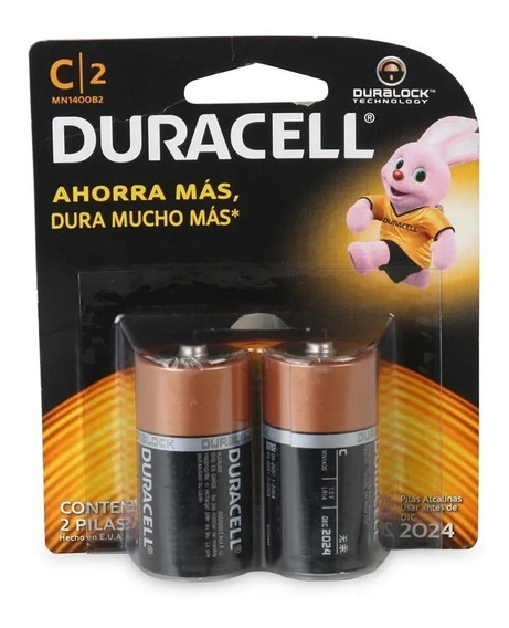 Pilas Alcalina Duracell Tipo C De 1.5 V Precio Blister De 2