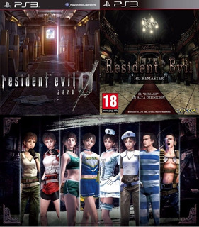 Resident Evil 0 Hd + Resident Evil 1 Hd + Extras ~ Ps3