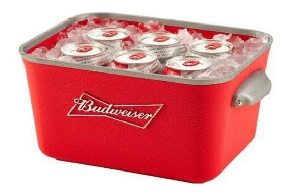 Frapera Budweiser De Aluminio Con Manijas Y Divisores