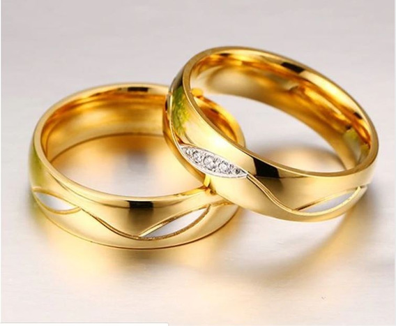 Par De Alianças Compromisso Noivado Casamento.6mm Banhadas