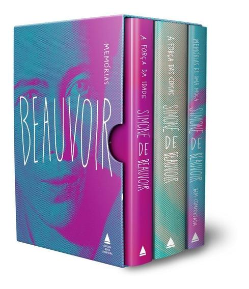Caixa Box Memórias De Simone De Beauvoir 3 Livros