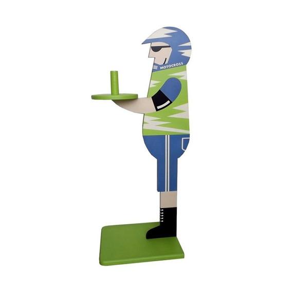 Suporte P Papel Higiênico Mdf Motoqueiro Verde Os Magrinhos