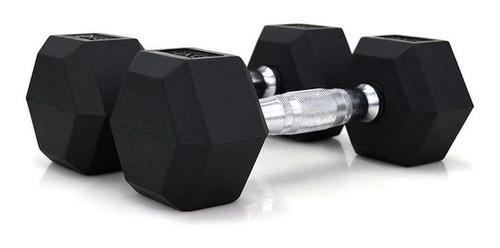 Imagen 1 de 6 de Mancuerna Hexagonal Goma 8 Kg Por Unidad Importado Gym