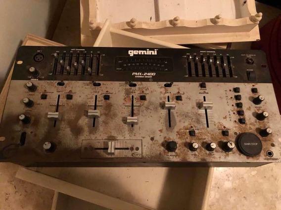 Mixer Dj Gemini Pmx 2400 Sampler