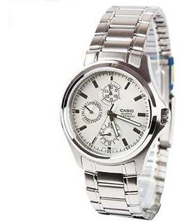 Reloj Casio Mtp-1246d-7a Hombre Ac/inox Sumergible 50m