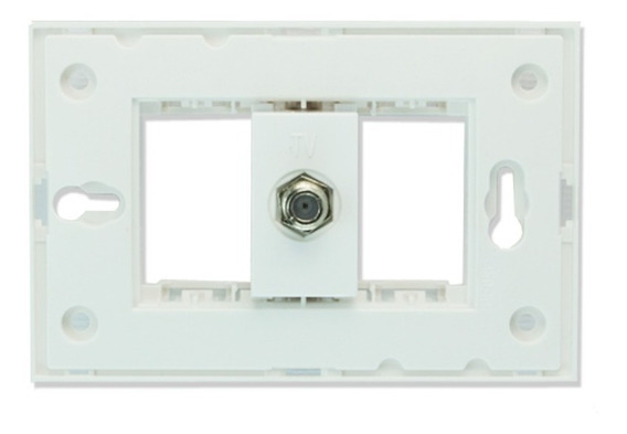 Chasis + Toma Coaxial Tv Color Blanco