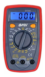 Multímetro Tester Digital Con Buzzer Tension Dt33c Baw