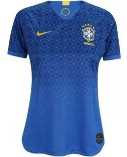Camisa Seleção Brasileira Original Torcedora Feminino Azul