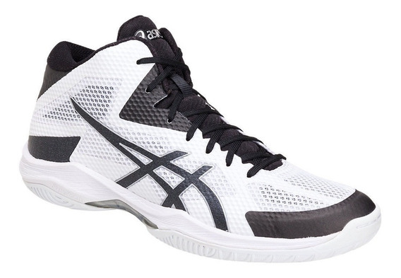 Tênis Asics V-swift Ff Mt Volleyball Volei Preto E Branco