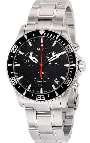 Relógio Mido Ocean Star M0114171105102 Cronografo Black Dial