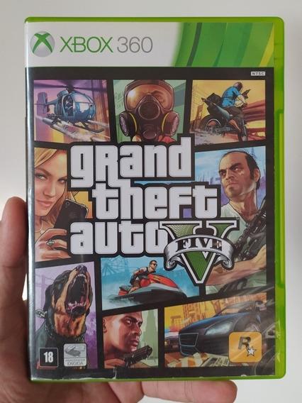 Jogo Gta 5 V Original Em Mídia Física Ntsc Xbox 360
