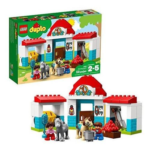 Lego Duplo Town Farm Pony Establo Bloques De Construcc