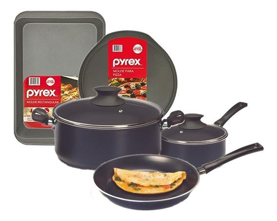 Bateria De Cocina Jovifel Pyrex Teflon Olla Sarten Cacerola