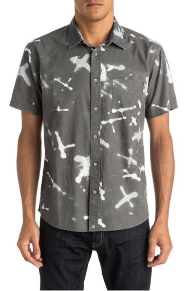 Camisa Mc Hawaiiana Quiksilver Markings Grey