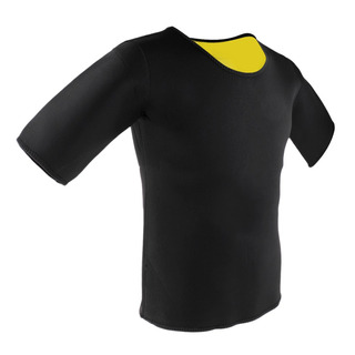 Homem Neoprene Esporte T Camisa Curto Manga Ioga Fitness Exe
