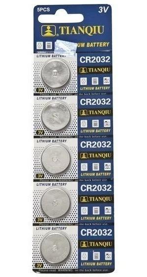 10 Tiras Pilas Baterias Cr2032 3v Litio Pc, Cpu, Relojes Tq