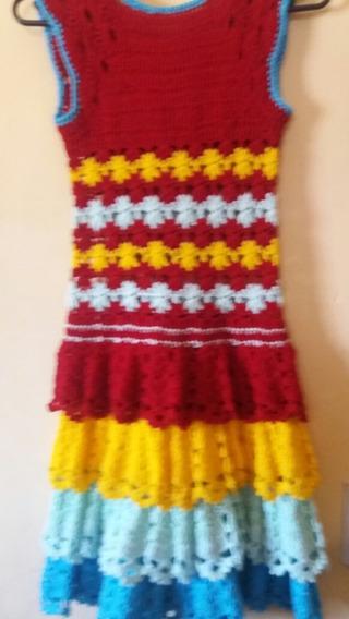 Vestido Tejido A Crochet.