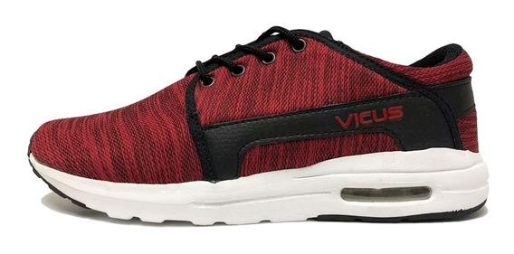 Zapatillas Vicus Mesh Air Negro / Rojo (5006)