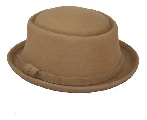 Imagen 1 de 1 de Sombrero Pork Pie Tipo Hipster  Elegante Unisex