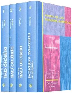 Libros De Derecho Serie Personas Y Bienes 4 Tomos