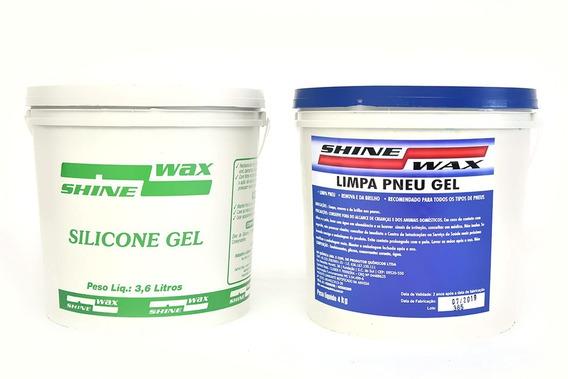 Silicone Gel 3,6 Kg. + Limpa Pneu Gel Pretinho 4kg