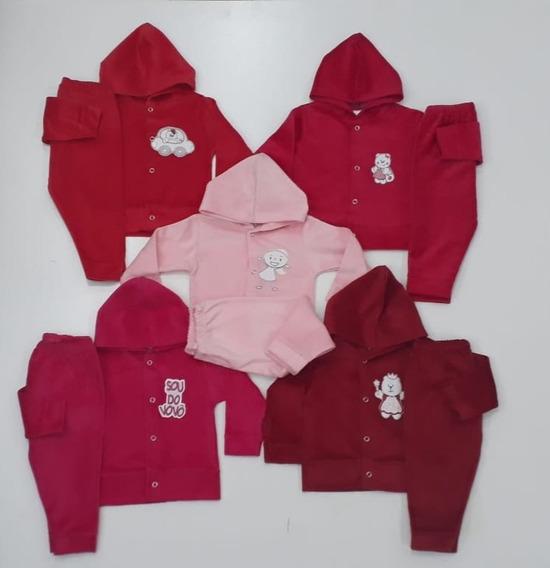 Roupa Bebê Kit 5 Conjuntos Plush Pmg Menina Menino Infantil