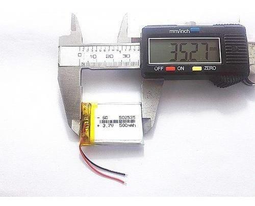 5 Baterias 500 Mah Rastreador Gps Mp5 2 Fios Original