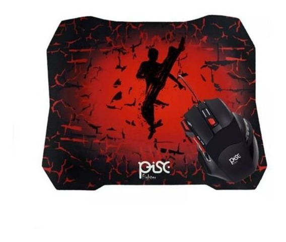 Kit Mouse Gamer Com Mouse Pad Pisc Fighter 1886