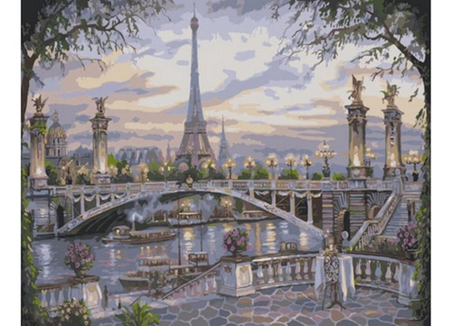 Pintura Numerada Paris - Ponte Alexandre Iii_p2