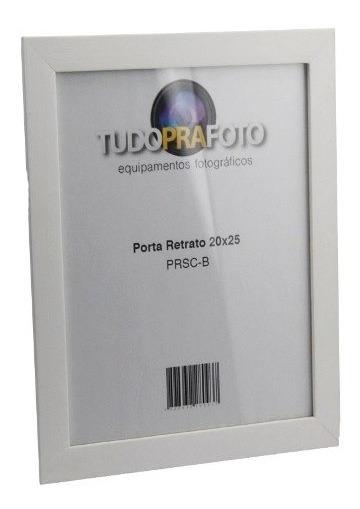 Porta Retrato Branco De Madeira 20x25 - Prsc-b